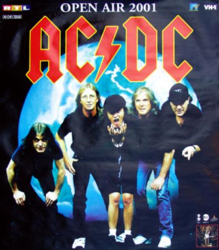 AC/DC Tourplakat 2001