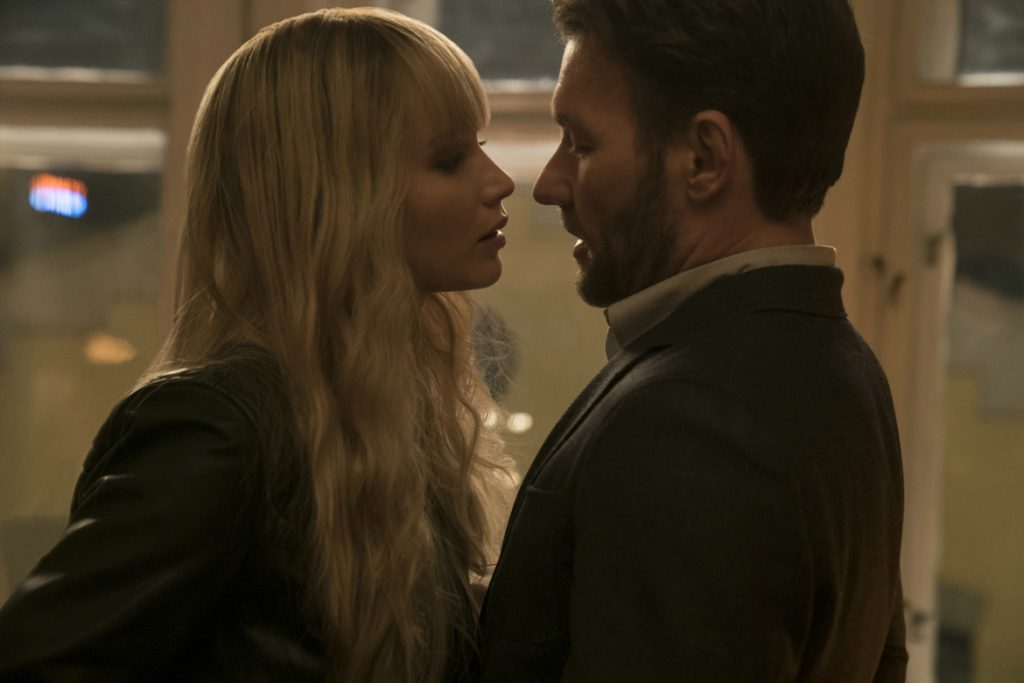 """Red Sparrow"" - Jennifer Lawrence (Dominika Egorova) und Joel Edgerton (Nathaniel Nash) - (© 2017 Twentieth Century Fox)"