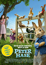 """Peter Hase"" Filmplakat (© 2018 Sony Pictures Entertainment Deutschland GmbH, PETER HASE™ sowie alle zugehörigen Figuren: ™ & © Frederick Warne & Co Limited.)"