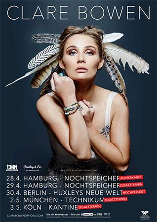 Clare Bowen Konzertplakat Deutschland 2018