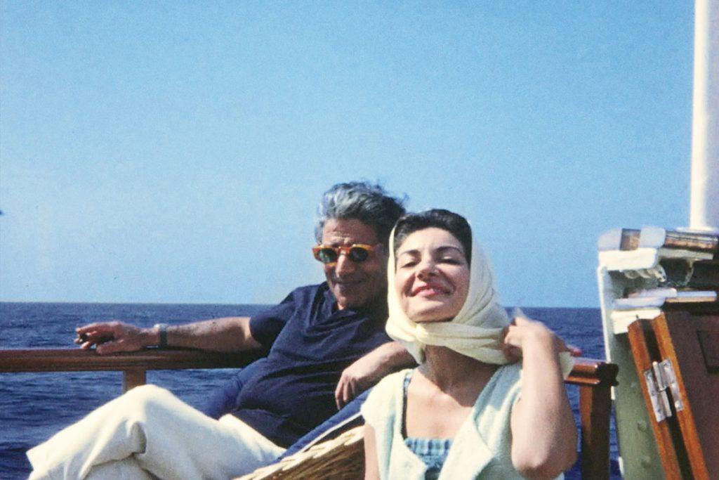 Maria Callas mit Aristoteles Onassis (© Fonds de Dotation Maria Callas)