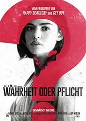 """""""Blumhouse präsentiert: Wahrheit oder Pflicht"""" Filmplakat"""
