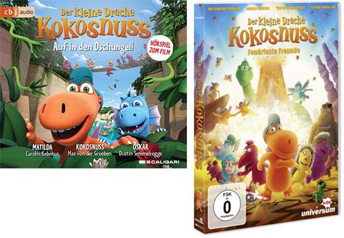 """""""Der kleine Drache Kokosnuss - Auf in den Dschungel!"""" Fanpaket"""