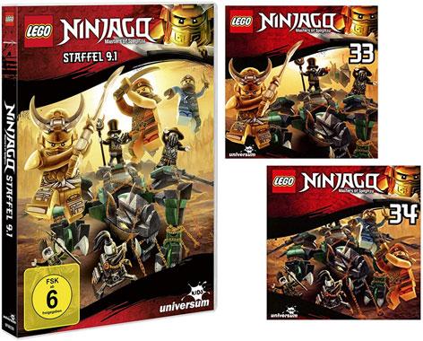 LEGO® NINJAGO® DVD 9.1 & CDs 33 + 34 (Copyright: Universum Kids)