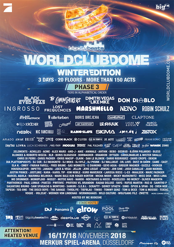 World Club Dome Winter Edition 2018