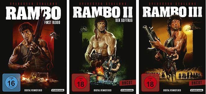 """""""Rambo"""" Trilogy - DVD-Paket"""