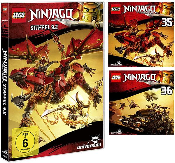 LEGO® NINJAGO® DVD 9.2 & CDs 35 + 36 (Copyright: Universum Kids)