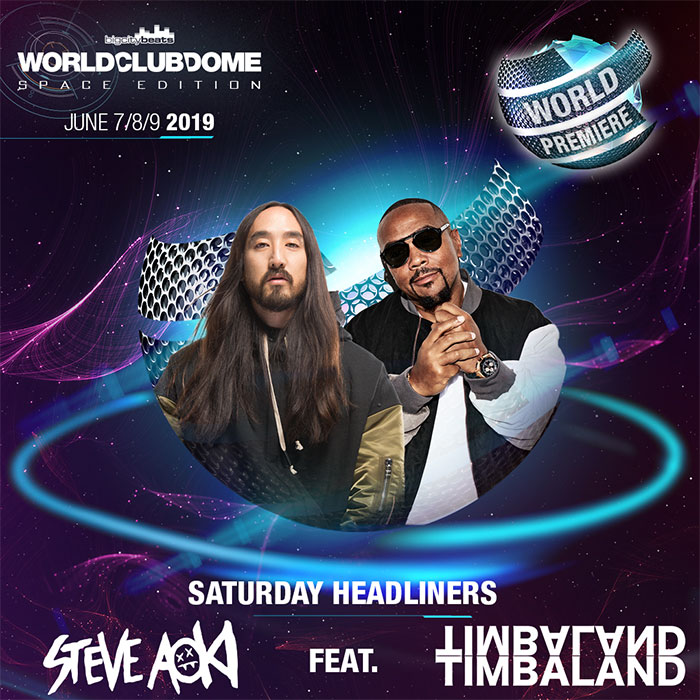 World Club Dome Space Edition 2019 - Steve Aoki mit Timbaland