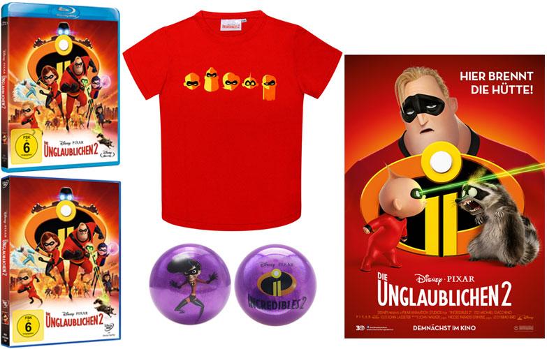 """""""Die Unglaublichen 2"""" Fanpaket (© 2019 Disney•Pixar. All Rights Reserved.)"""