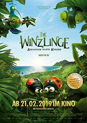 """""""Die Winzlinge - Abenteuer in der Karibik"""" Filmplakat (© 2018 Futurikon Films – Ifilmfilm – France 3 cinéma)"""