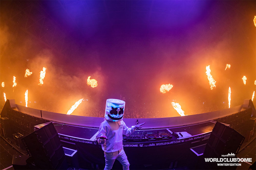 Marshmello beim World Club Dome (Foto: © BigCityBeats / Jan Segnitz)