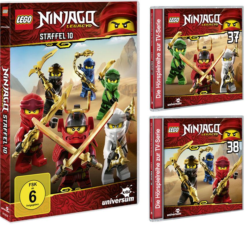 LEGO® NINJAGO® DVD 10 & CDs 37 + 38 (Copyright: Universum Kids)