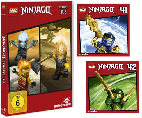 LEGO® NINJAGO® DVD 11.2 + CDs 41 & 42 (Copyright: Universum Kids)