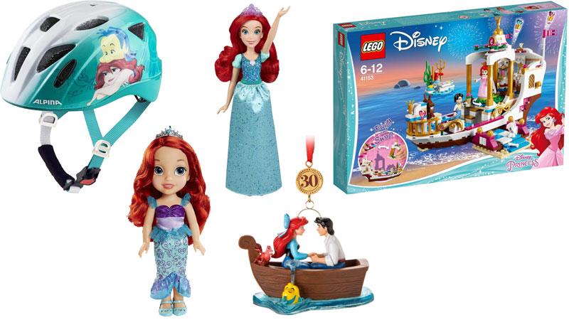 """30 Jahre """"Arielle, die Meerjungfrau"""" - einige der Jubiläums-Produkte"""