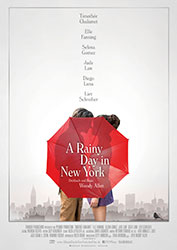 """A Rainy Day In New York"" Filmplakat (© 2019 Gravier Productions, Inc.)"