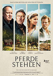 """""""Pferde stehlenn"""" Filmplakat (© 2019, 4 1/2 Fiksjon As, Zentropa Entertainments5, Zentropa Sweden, Nordisk Film, Helgeland Film)"""