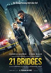"""21 Bridges"" Filmplakat (© 2019 Concorde Filmverleih GmbH)"
