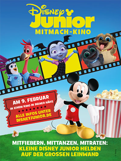"""Disney Junior Mitmach-Kino"" Plakat 2020 (© Disney)"
