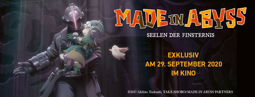 """Made in Abyss – Seelen der Finsternis"" Banner (© 2017 Akihito Tsukushi, TAKE SHOBO/MADE IN ABYSS PARTNERS)"