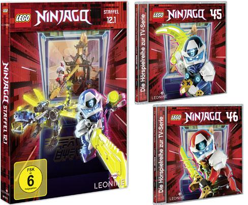 LEGO® NINJAGO® DVD 12.1 und CDs 45 + 46 (© LEONINE Kids)