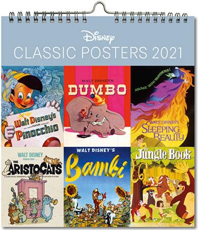 Disney Postkarten-Kalender mit kunstvollen Retro-Postermotiven (© Disney)