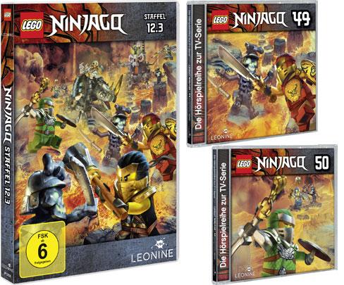 LEGO® NINJAGO® DVD 12.3 und CDs 49 + 50 (© LEONINE Kids)