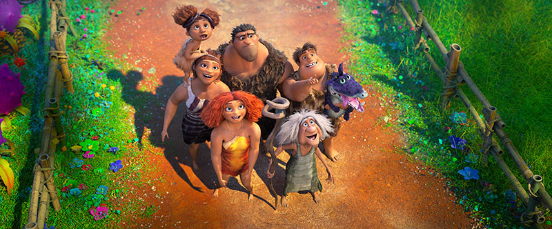 """""""Die Croods – Alles auf Anfang"""" Szenenbild (© 2020 DreamWorks Animation LLC. All Rights Reserved.)"""