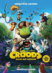 """""""Die Croods – Alles auf Anfang"""" Filmplakat (© 2020 DreamWorks Animation LLC. All Rights Reserved.)"""