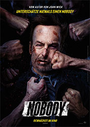"""""""Nobody"""" Filmplakat (© 2021 UNIVERSAL STUDIOS. All Rights Reserved.)"""