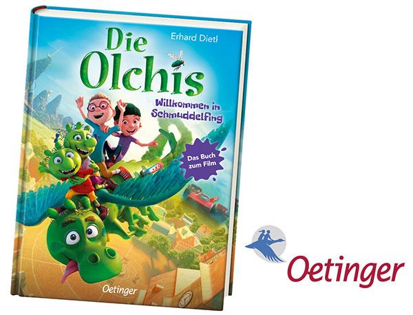 """""""Die Olchis - Willkommen in Schmuddelfing"""" Buch zum Film (© Oetinger Verlag)"""