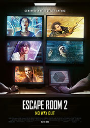 """""""Escape Room 2: No Way Out"""" Filmplakat (© 2021 Sony Pictures Entertainment Deutschland GmbH)"""