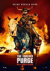 """""""The Forever Purge"""" Filmplakat (© 2021 UNIVERSAL STUDIOS. All Rights Reserved.)"""