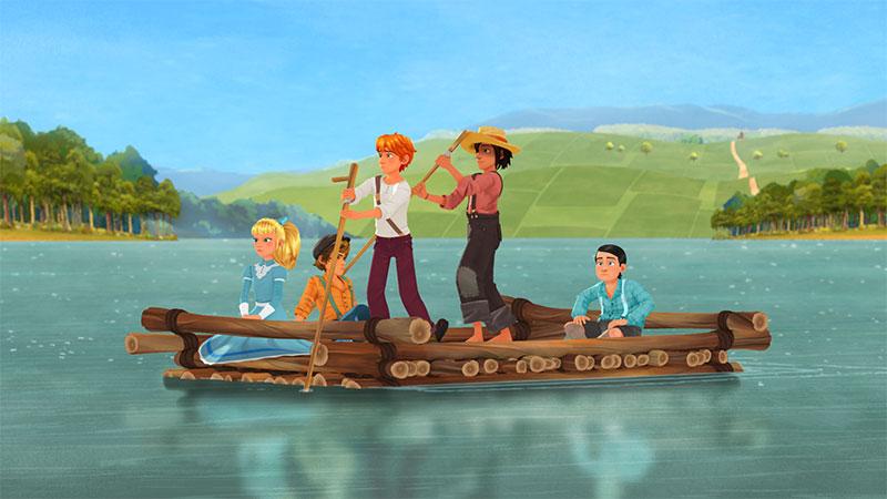 """""""Tom Sawyer"""" Szenenbild (© justbridge entertainment GmbH)"""