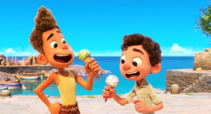 """""""Luca"""" Szenenbild (© 2021 Disney•Pixar)"""