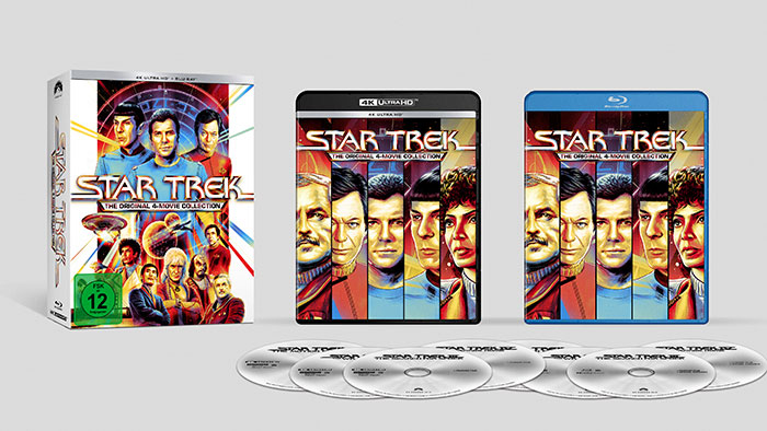 """Star Trek - The Original 4-Movie Collection"" 4K UHD Box (© Paramount Home Entertainment)"