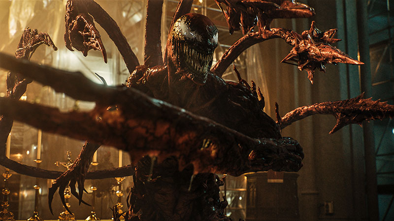 """""""Venom: Let There Be Carnage"""" Szenenbild (© 2021 Sony Pictures Entertainment Deutschland GmbH; MARVEL and all related character names: © & ™ 2021 MARVEL)"""